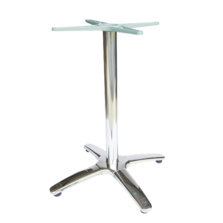 4 Leg Stainless Steel Finish Dining Height Table Base-Table Bases
