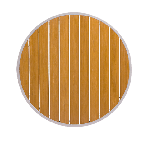 Round Teak Table Top-