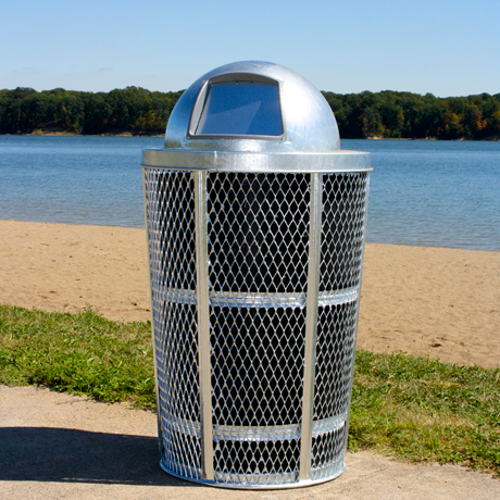 Expanded Metal Outdoor Container-Receptacles