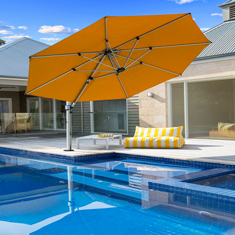 Aurora Series 11' Octagon Cantilever Umbrella