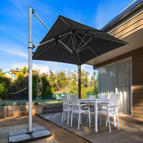 Aurora Series 9' Square Cantilever Umbrella