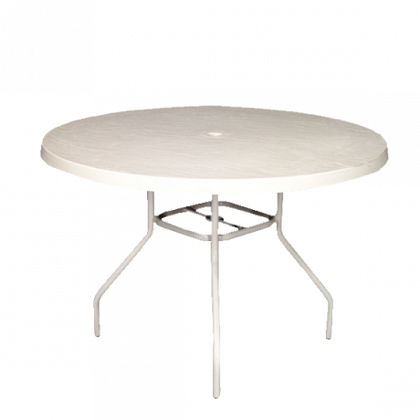 48 In. Round Fiberglass Top Dining Table-Dining Tables
