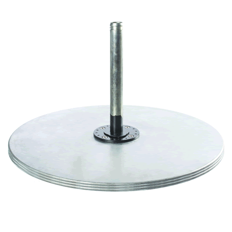 "40"" Galvanized Steel Triple Plate Base"