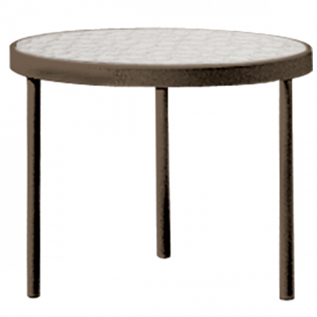 Tropitone 16 In. Round Tea Table with Acrylic Top-Accessories Tables