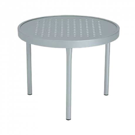 Tropitone 20 In. Round Boulevard Pattern Aluminum Tea Table-Accessories Tables