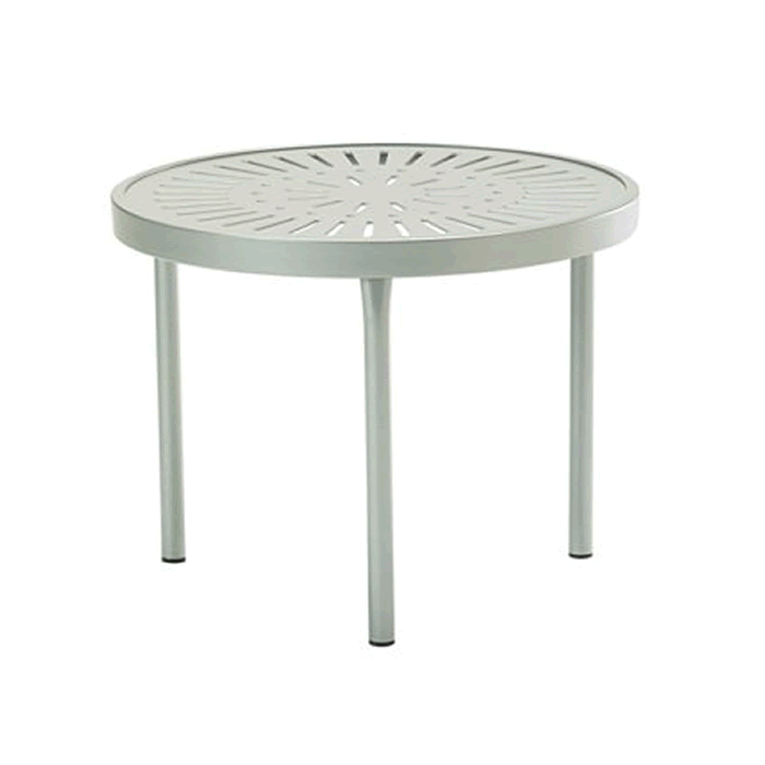 "La'Stratta Patterned Aluminum 20"" Round Tea Table"