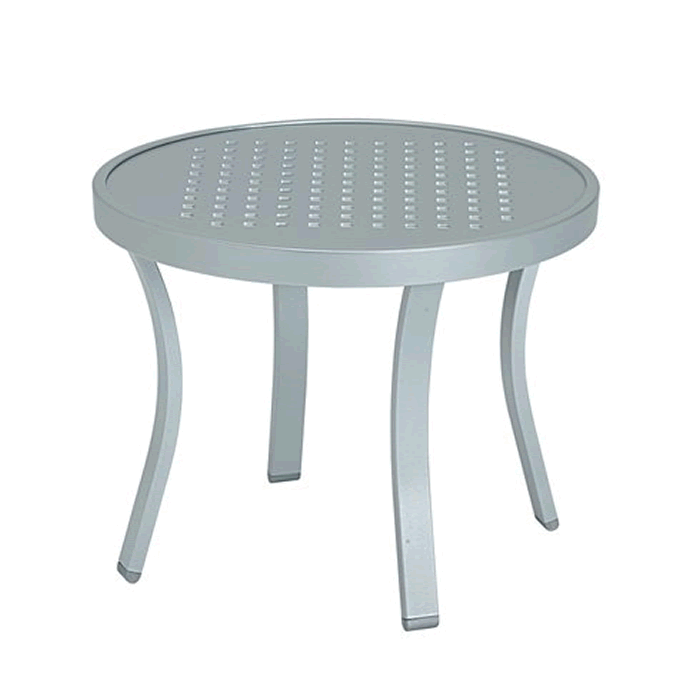 "Boulevard Patterned Aluminum 20"" Round Tea Table"