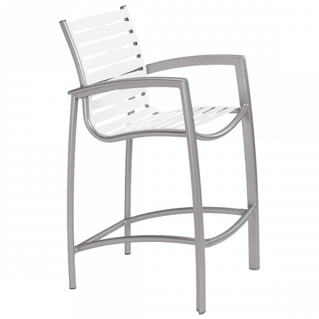 Tropitone South Beach EZ Span Ribbon Segment Bar Stool-Bar Chairs