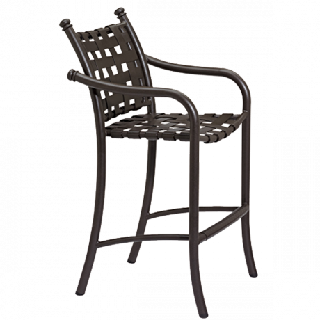 Tropitone La Scala Cross Strap Bar Stool-Bar Chairs