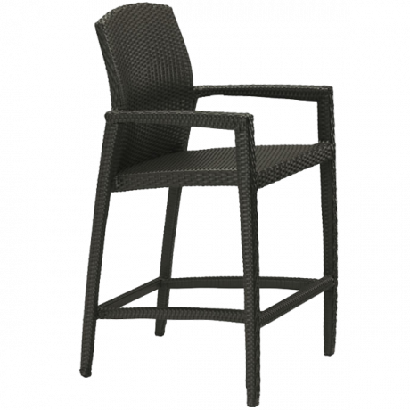 Tropitone Evo Woven Stationary Bar Stool-Bar Chairs