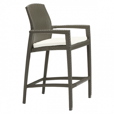 Evo Woven Stationary Bar Stool with Seat Pad