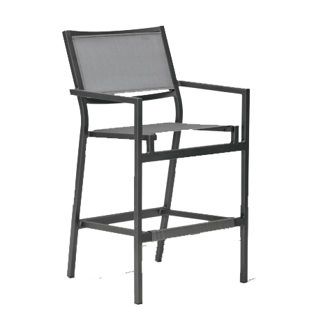 Cabana Club Sling Dining Stationary Bar Stool