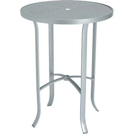 Tropitone 30 In. Round Boulevard Pattern Aluminum Bar Table-Bar Tables/Bars