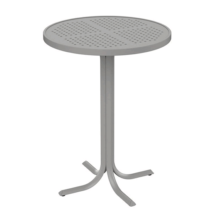 "Boulevard Patterned Aluminum 30"" Round Bar Table"