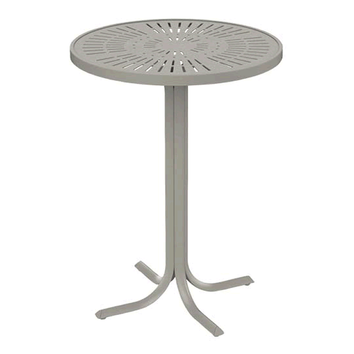"La'Stratta Patterned Aluminum 30"" Round Bar Table"