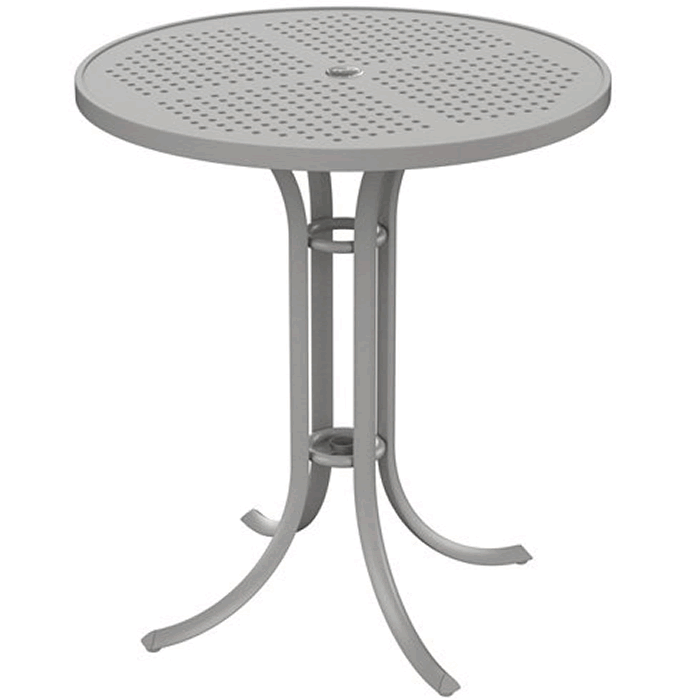 "Boulevard Patterned Aluminum 36"" Round Umbrella Bar Table"