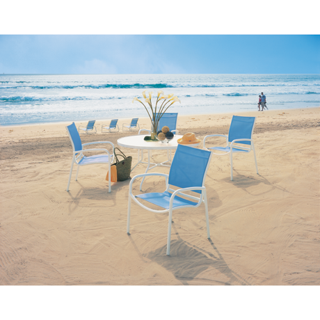 Tropitone Millenia Relaxed Sling Dining Chair-Chai