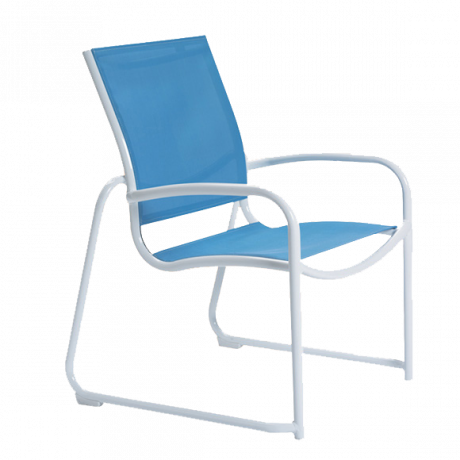 Tropitone Millenia Relaxed Sling Sled Base Dining Chair-Chairs and Glider Chairs