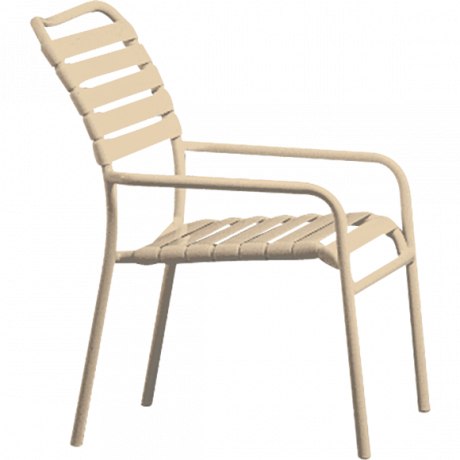 Tropitone Kahana Strap Dining Chair-Chairs and Glider Chairs
