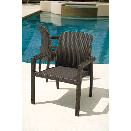 Tropitone Evo Woven Dining Chair-Chairs and Glider