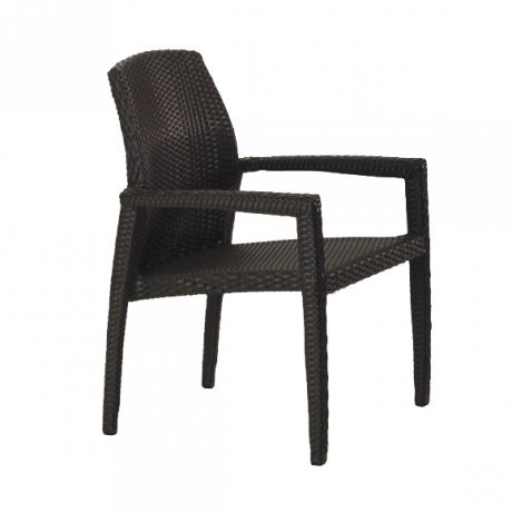 Tropitone Evo Woven Dining Chair-Chairs and Glider Chairs