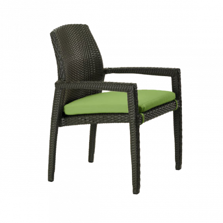 Evo Woven Dining Chair with Seat Pad