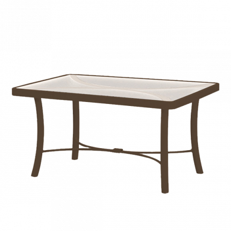 Tropitone 36 In. x 24 In. Coffee Table with Acrylic Top-Counter/Balcony Tables