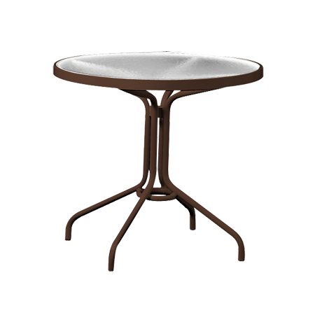 Etonnant Tropitone 30 In. Round Dining Table With Acrylic Top Dining Tables