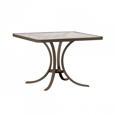 Tropitone 36 In. Square Dining Table with Acrylic Top-Dining Tables