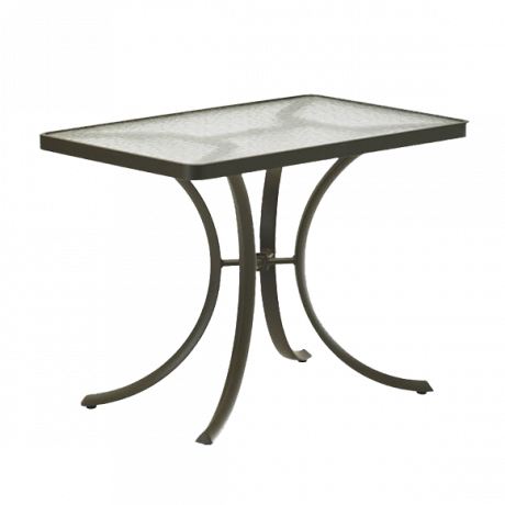 Tropitone 36 In. x 24 In. Rectangular Dining Table with Acrylic Top-Dining Tables