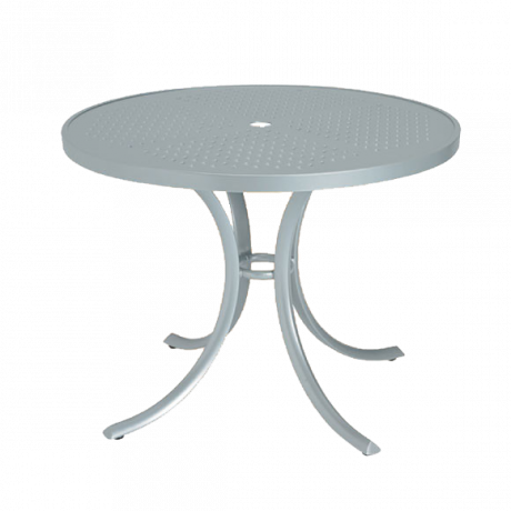 "Boulevard Patterned Aluminum 36"" Round Dining Umbrella Table"