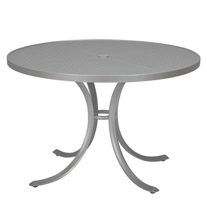 "Boulevard Patterned Aluminum 42"" Round Dining Umbrella Table"