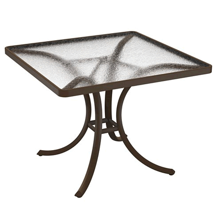"""Acrylic 36"""" Square Dining Table"""