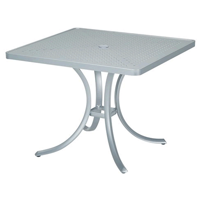 "Boulevard Patterned Aluminum 36"" Square Dining Umbrella Table"