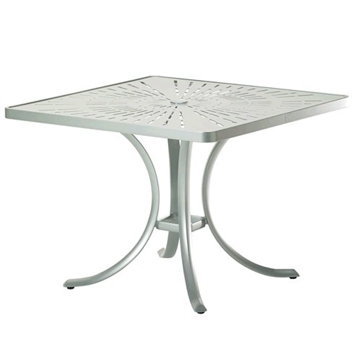 "La'Stratta Patterned Aluminum 36"" Square Dining Umbrella Table"