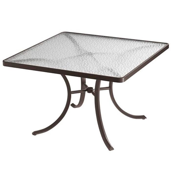 """Acrylic 42"""" Square Dining Table"""