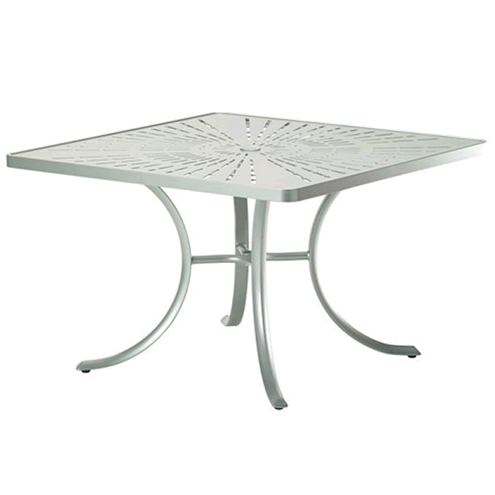 "La'Stratta Patterned Aluminum 42"" Square Dining Umbrella Table"