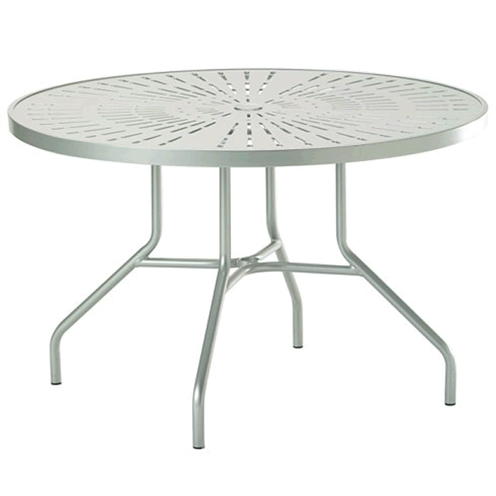 "La'Stratta Patterned Aluminum 42"" Round Dining Umbrella Table"