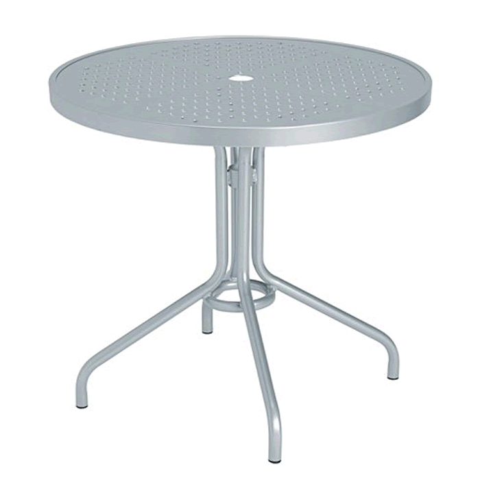 "Boulevard Patterned Aluminum 30"" Round Dining Table"