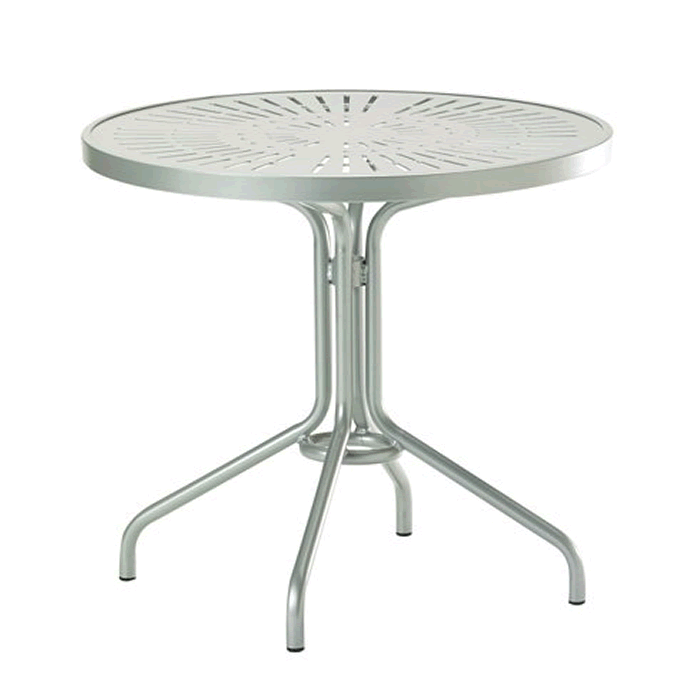 "La'Stratta Patterned Aluminum 30"" Round Dining Table"