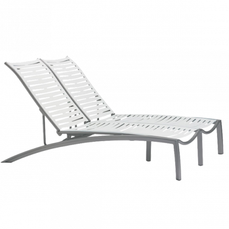 Tropitone South Beach EZ Span Ribbon Segment Double Chaise-Lounge Chairs/Chaise