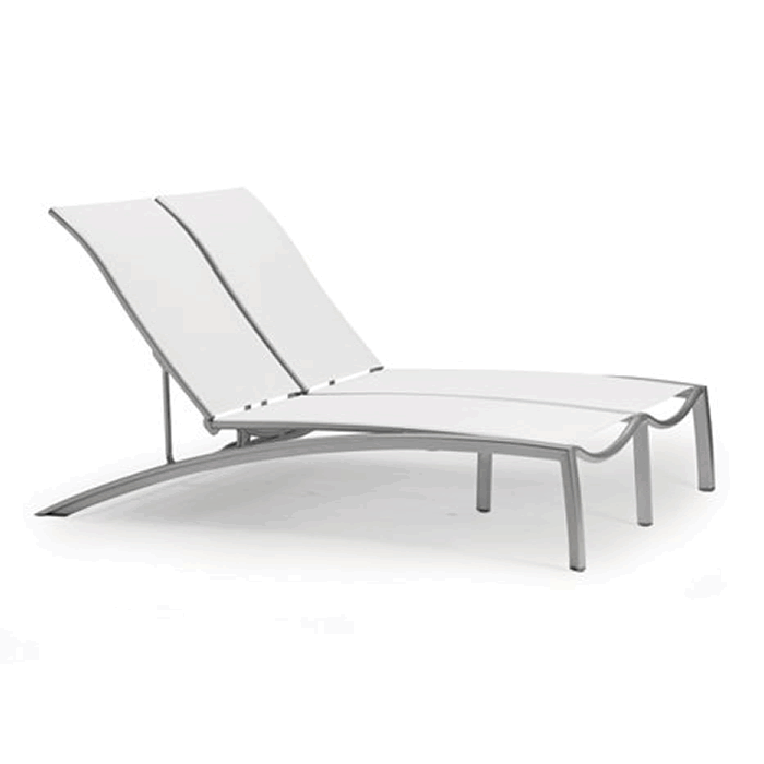 South Beach Relaxed Sling Armless Double Chaise Lounge