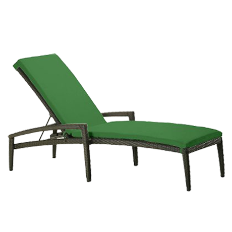Evo Woven Chaise Lounge with Arms and Full Pad