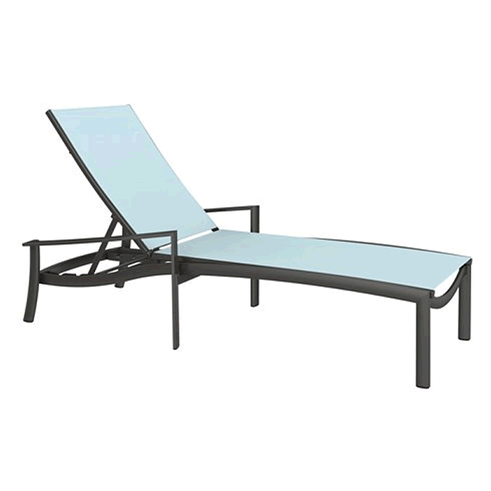 KOR Relaxed Sling Chaise Lounge with Arms