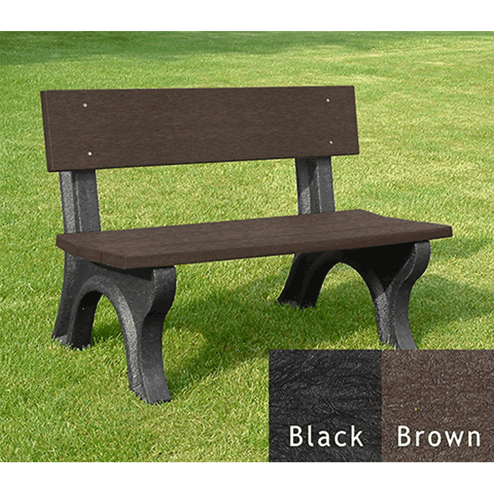 Landmark Backed Bench without Arms