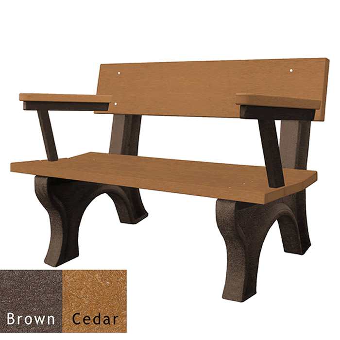 Landmark Backed Bench with Arms