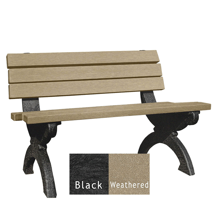 Monarque Backed Bench without Arms