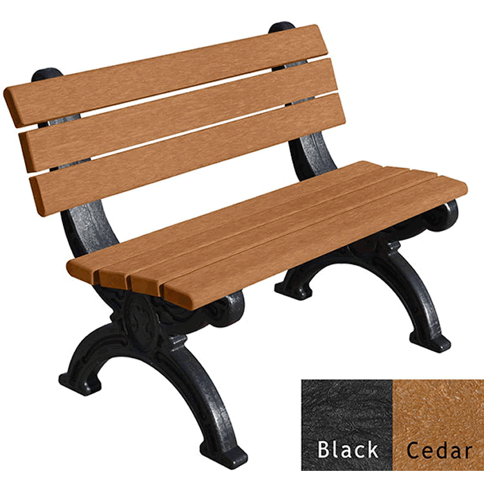 Silhouette Backed Bench without Arms