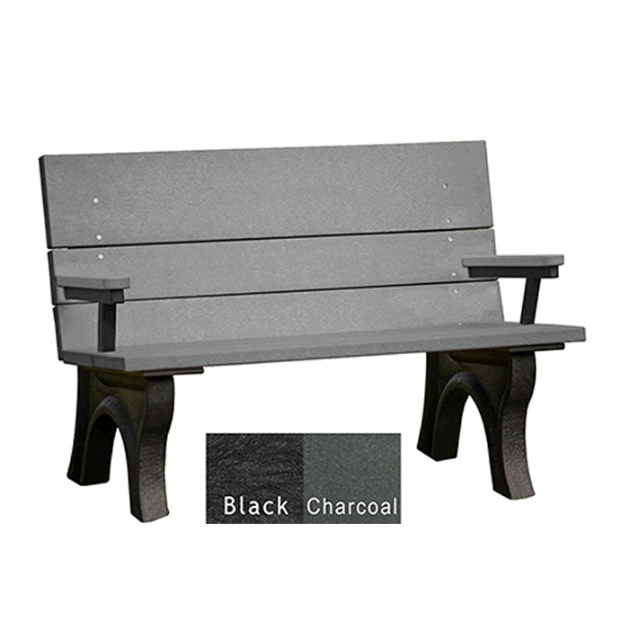Traditional ADA Bench with Arms