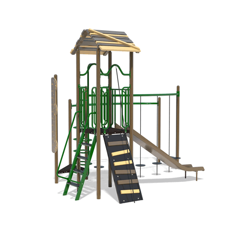 PlayFit Fortress School Age Playground